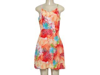Vestido Feminino Alpelo 80463 Estampado Laranja - Tamanho Médio