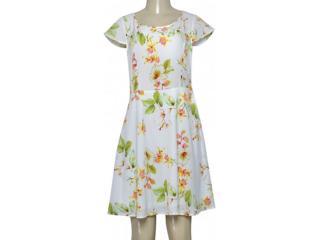 Vestido Feminino Alpelo 854 Off White Floral - Tamanho Médio
