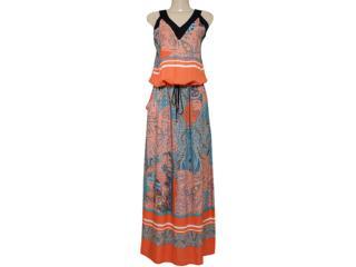 Vestido Feminino Borda Barroca 519245 Preto - Tamanho Médio