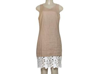 Vestido Feminino Borda Barroca 519255 Cru - Tamanho Médio