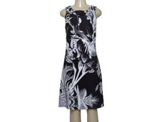 Vestido Feminino Borda Barroca 4001316 Preto/branco - Tamanho Médio