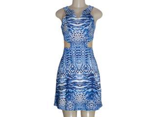 Vestido Feminino Carlos Miele 212210002 Onca Azul - Tamanho Médio