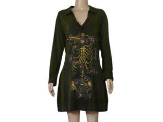 Vestido Feminino Cavalera Clothing 11.03.1001 Verde Militar - Tamanho Médio