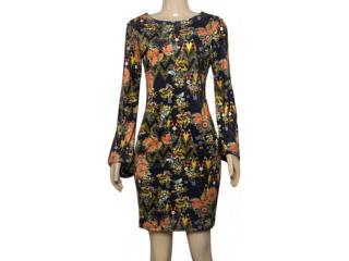 Vestido Feminino Cavalera Clothing 11.03.1010 Preto Floral - Tamanho Médio