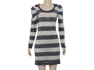 Vestido Feminino Checklist 76.03.0002 Preto/prata - Tamanho Médio