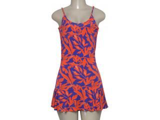 Vestido Feminino Cia Maritima 379872 Roxo/vermelho - Tamanho Médio