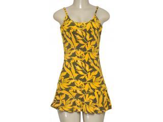 Vestido Feminino Cia Maritima 379282 Amarelo/verde - Tamanho Médio