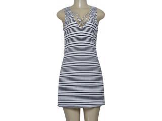 Vestido Feminino Cia Maritima 1715 500 Branco/preto - Tamanho Médio