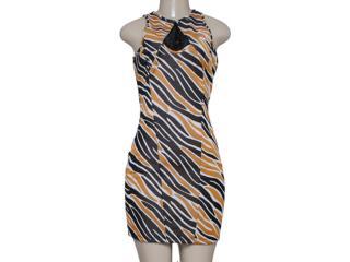 Vestido Feminino Coca-cola Clothing 443201787 Preto/marrom - Tamanho Médio