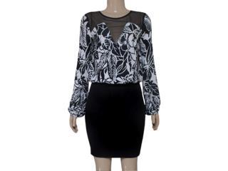 Vestido Feminino Coca-cola Clothing 443201861 Preto/branco - Tamanho Médio