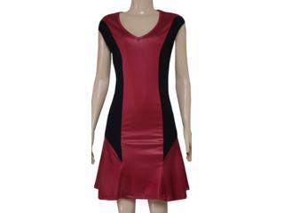 Vestido Feminino Coca-cola Clothing 443201560 Preto/bordo - Tamanho Médio