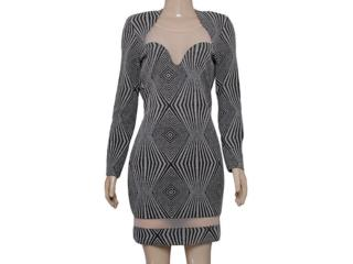 Vestido Feminino Coca-cola Clothing 443201606 Cinza/preto/dourado - Tamanho Médio