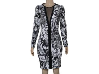Vestido Feminino Coca-cola Clothing 443201822 Branco/preto - Tamanho Médio