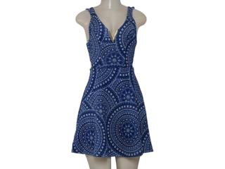 Vestido Feminino Coca-cola Clothing 443201936 Estampado Marinho/branco - Tamanho Médio