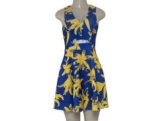 Vestido Feminino Coca-cola Clothing 443201937 Estampado Marinho/amarelo - Tamanho Médio