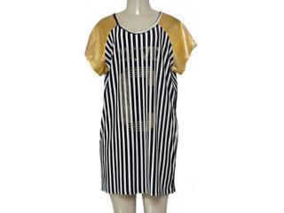 Vestido Feminino Coca-cola Clothing 443201748 Preto/dourado/branco - Tamanho Médio