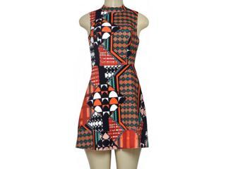 Vestido Feminino Coca-cola Clothing 443202084 Laranja/preto/branco - Tamanho Médio