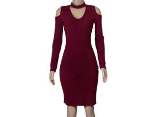 Vestido Feminino Coca-cola Clothing 443202244 Bordo - Tamanho Médio