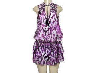 Vestido Feminino Colcci 440105101 Off White/roxo - Tamanho Médio