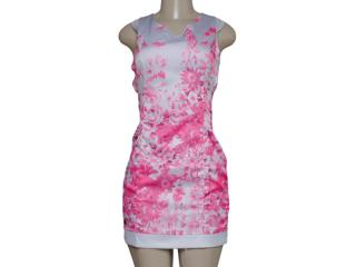Vestido Feminino Dopping 018057525 Cinza/rosa - Tamanho Médio