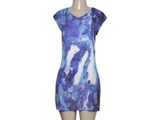 Vestido Feminino Dopping 018058635 Preto/azul - Tamanho Médio