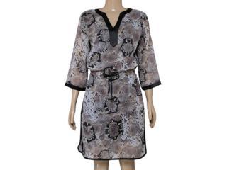 Vestido Feminino Dopping 018060023 Preto/cobra - Tamanho Médio