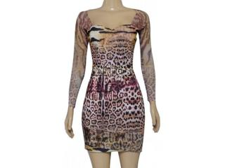 Vestido Feminino Dopping 018055039 Onca - Tamanho Médio