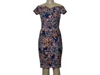 Feminino Vestido Dopping 018067017 Azul Estampado - Tamanho Médio