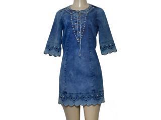 Vestido Feminino Dopping 018068517 Jeans - Tamanho Médio