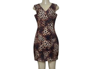Vestido Feminino Dopping 018063011 Onca - Tamanho Médio