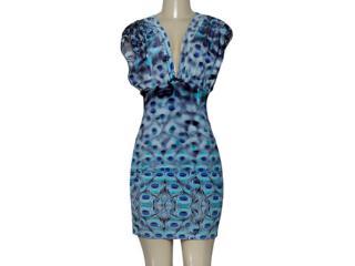 Vestido Feminino Forum 444604422 Var 12 Azul Estampado - Tamanho Médio