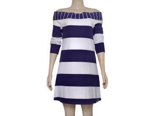 Vestido Feminino Hering 0994/1b00s Branco/violeta - Tamanho Médio