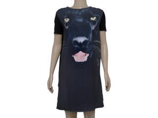 Vestido Feminino Index 13.02.000191 Preto/musgo - Tamanho Médio