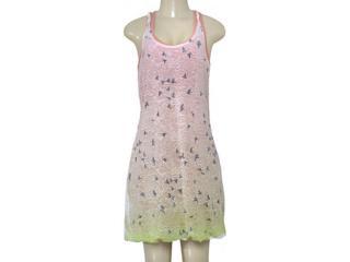 Vestido Feminino Index 13.02.0956 Verde/rosa - Tamanho Médio