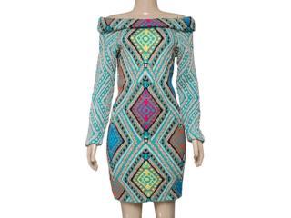 Vestido Feminino Intuição 141234 Estampado Acqua - Tamanho Médio
