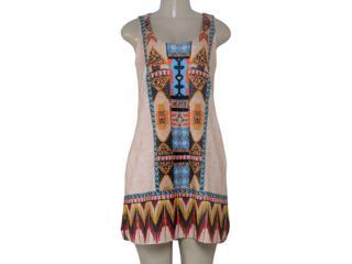 Vestido Feminino Intuição 152641 1953 Bege Estampado - Tamanho Médio