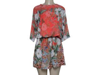 Vestido Feminino Intuição 152546 1946 Coral/floral - Tamanho Médio