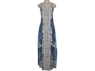 Vestido Feminino Intuição 152540 1906 Azul Floral Bege - Tamanho Médio