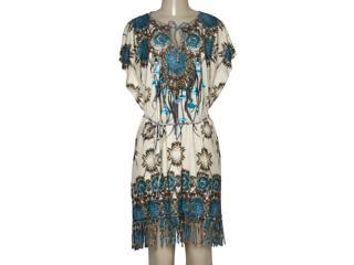 Vestido Feminino Intuição 152509 1965 Bege Estampado - Tamanho Médio