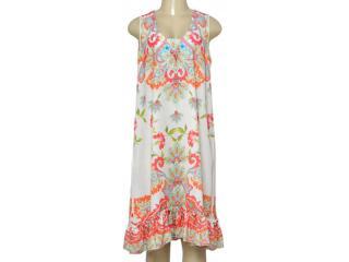 Vestido Feminino Intuição 152551 Off White Estampado Floral - Tamanho Médio