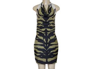 Vestido Feminino Intuição 134492 Musgo/preto - Tamanho Médio