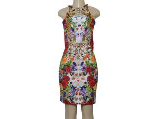 Vestido Feminino Intuição 122407 Estampado - Tamanho Médio