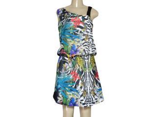 Vestido Feminino Intuição 142274 Preto Floral - Tamanho Médio