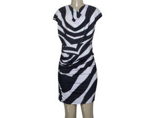 Vestido Feminino Intuição 134404 Preto/branco - Tamanho Médio