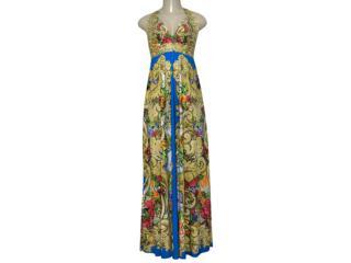 Vestido Feminino Intuição 122500 Estampado - Tamanho Médio