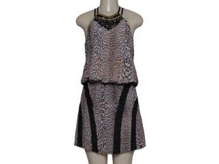 Vestido Feminino Lado Avesso 89677 Onca/preto - Tamanho Médio