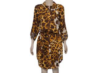 Vestido Feminino Lado Avesso 82623 Onca - Tamanho Médio