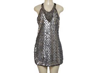 Vestido Feminino Lado Avesso 89675 Prata - Tamanho Médio