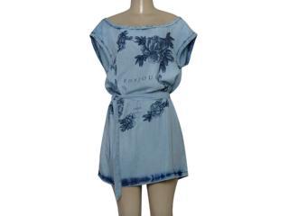 Vestido Feminino Lado Avesso 103223 Jeans - Tamanho Médio