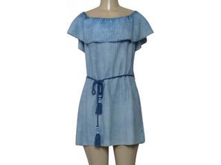 Vestido Feminino Lado Avesso 103221 Azul Claro - Tamanho Médio
